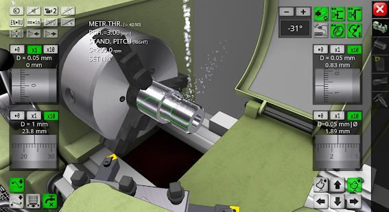 Simulatore di tornio