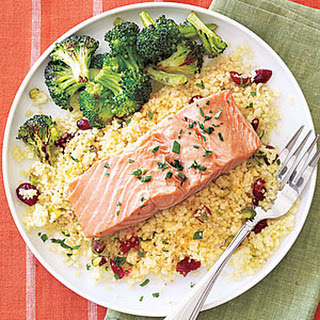 Salmon and Couscous Packets.