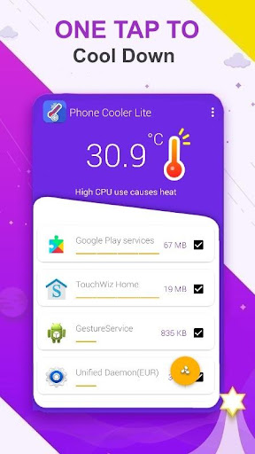 Phone Cooler Master Lite : Fast CPU Cooler App Report on Mobile