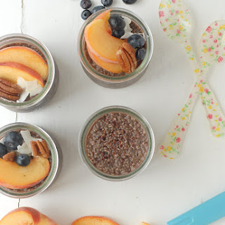 Overnight Quinoa-Chia Chocolate Breakfast Pudding