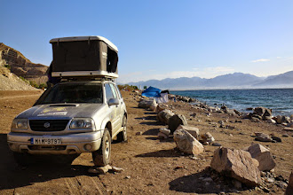 Photo: Camping just next to the borders (Taba-Eilat)