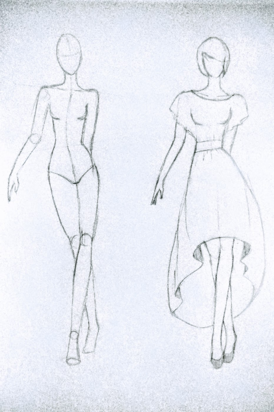Sketch: High-Low Circle Skirt Dress - DIY Fashion Garments | fafafoom.com