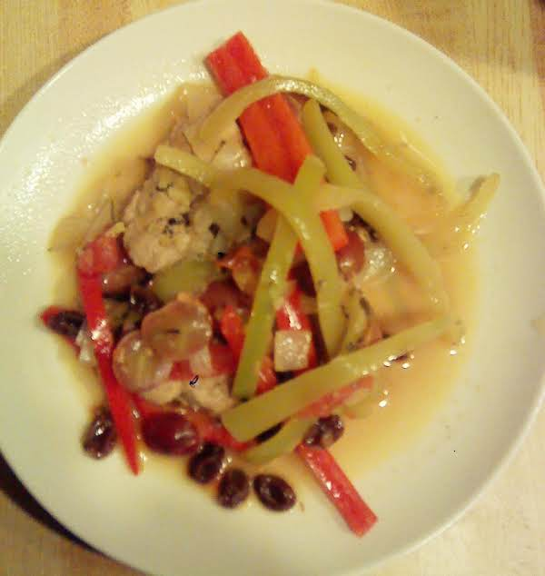 Pork With Fruit & Peppers Recipe