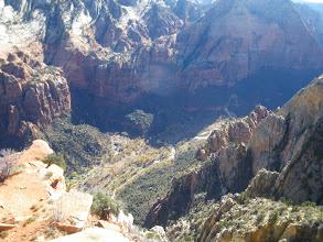 Photo: Zion Lodge far, far below the Lady Mountain summit