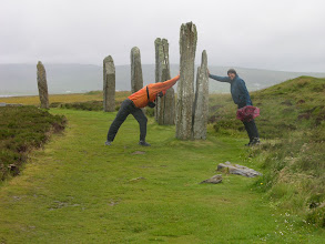 Photo: Keeping up the standing stones on Orkney