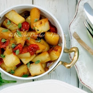 Balsamic Vinegar Roasted Chicken with Potatoes