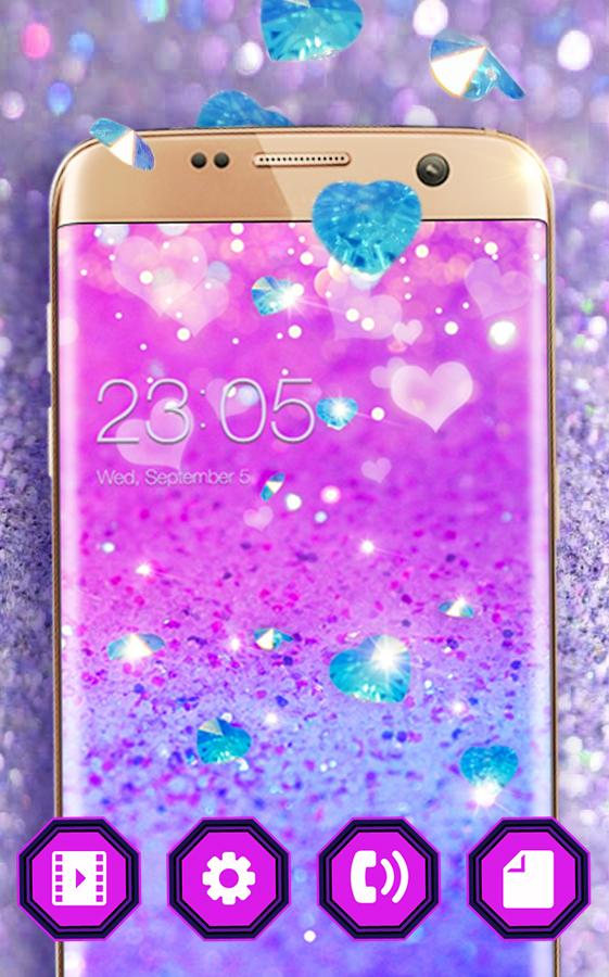 Purple Glitter Theme: Shining Sparkle wallpaper HD - Android Apps ...