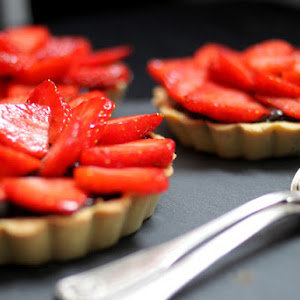 Chocolate Strawberry Tartlets