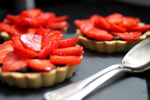 Chocolate Strawberry Tartlets Recipe