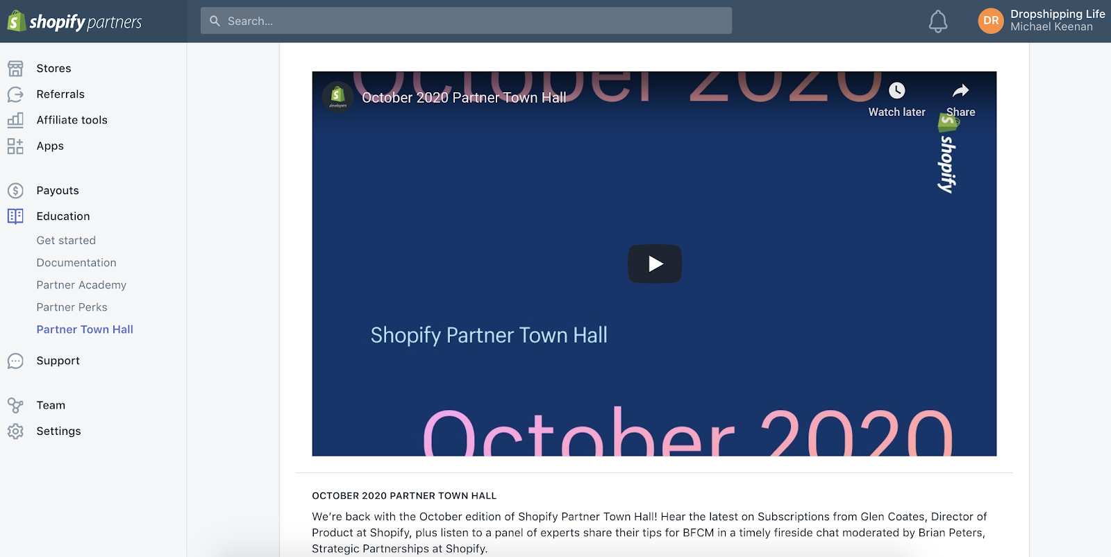 Shopify Partner Town Hall