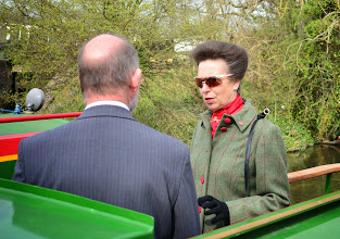 Photo: Boarding the converted narrowboat 'Pickles Folly'