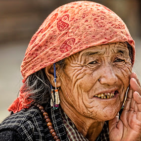 The Story of Time by Arup Acharjee - People Street & Candids ( wrinkles, old, woman, mongol, portrait )