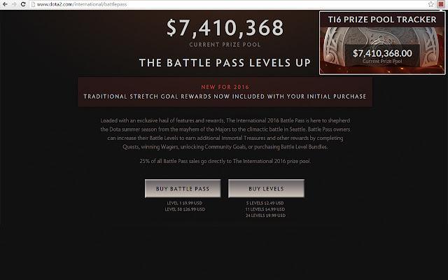 TI7 Prize pool Tracker