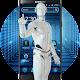 Download Future technology robot big data era blue theme For PC Windows and Mac