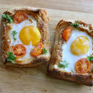 Puff Pastry Breakfast Egg Tarts.
