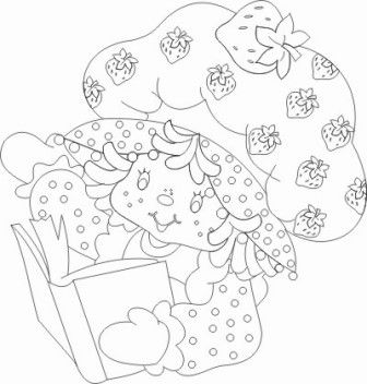 boneca moranguinho colorir