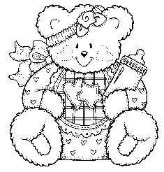 Ursinha segurando mamadeira