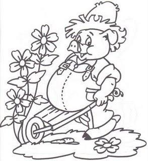 desenho colorir pig porco