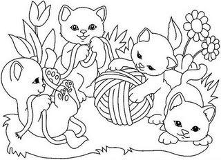 desenho colorir gato