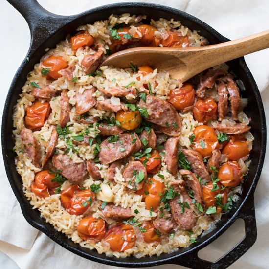 Easy One Pot Sausage and Rice Recipe