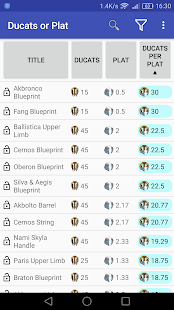 Ducats Or Plat For Warframe Apps On Google Play
