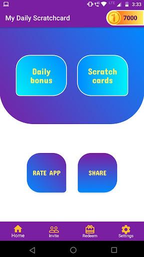 My Daily scratchcard 1.6 screenshots 1