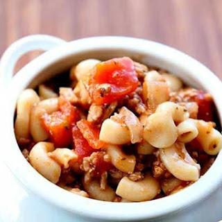 Italian Turkey Macaroni Soup.