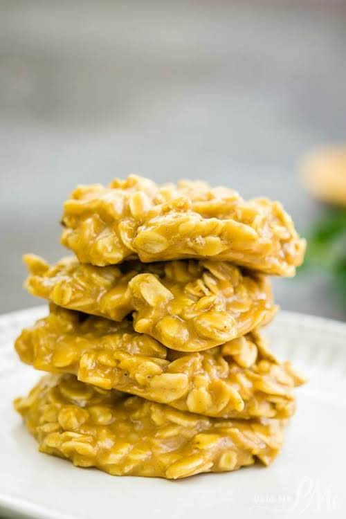 """Old-Fashioned No-Bake Peanut Butter Cookies""""Everyone will love these Old Fashioned No Bake..."""