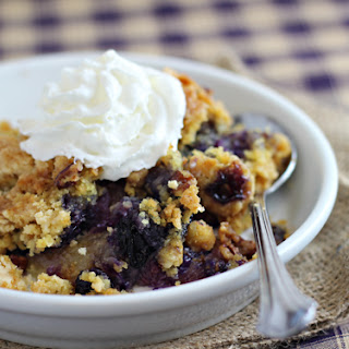 Blueberry Crunch Dump Cake