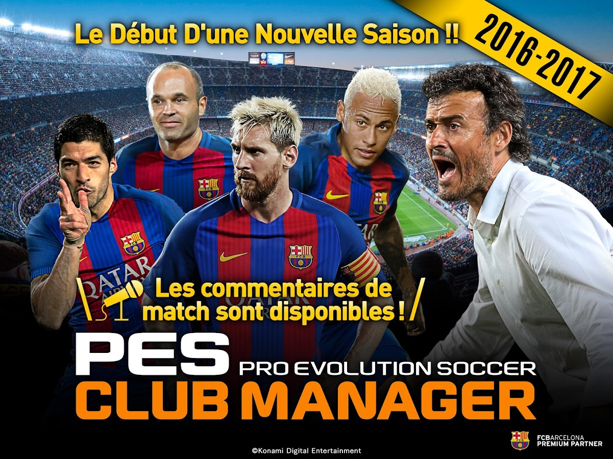 PES CLUB MANAGER – Capture d'écran