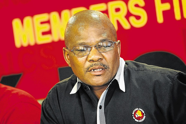 NUM general secretary David Sipunzi. Picture: SUNDAY TIMES