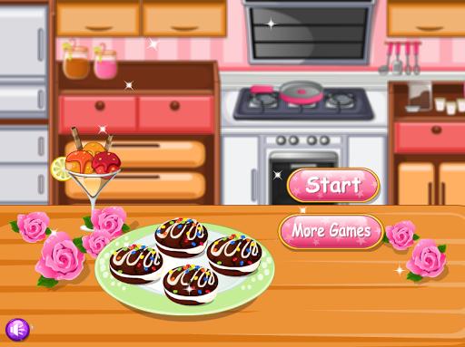 ゲームを調理面白い女の子