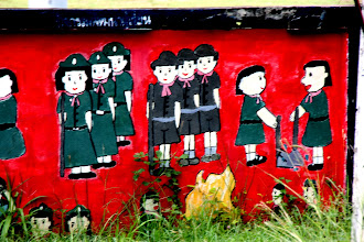 Photo: Day 334  - Mural on a Wall Outside a School #3