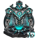 3d neon iron hero theme icon
