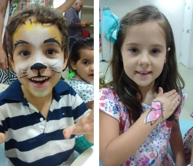 Pinturas Faciais e Corporais para eventos Infantis como Aniversários, 15 anos, Casamentos, etc; em Natal e São José dos Campos. Pinote Kids Brasil