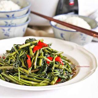 Quick Style Kangkung Belacan Recipe