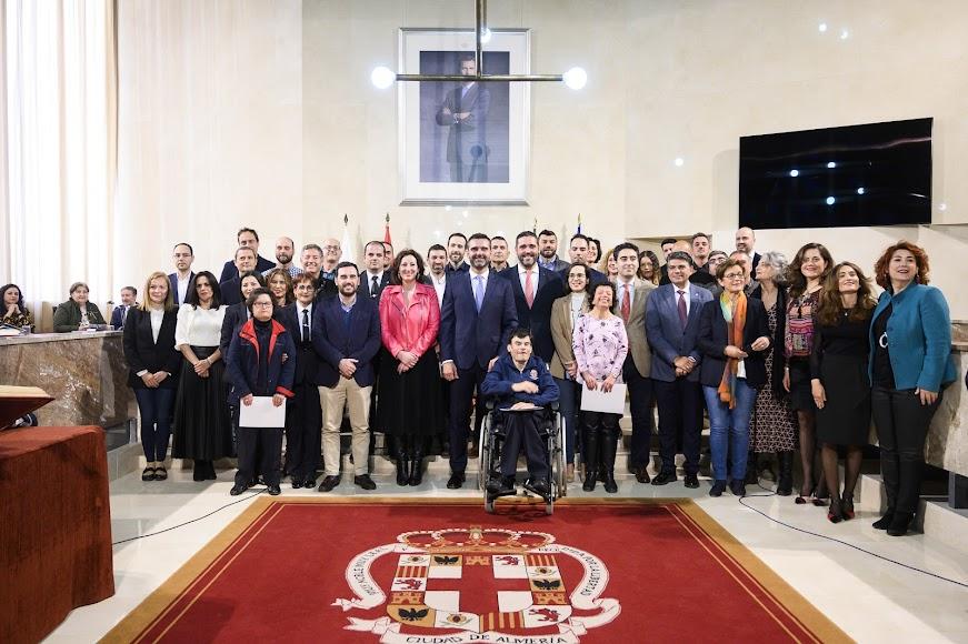 Toma de posesión de funcionarios y personal laboral del Ayuntamiento de Almería.
