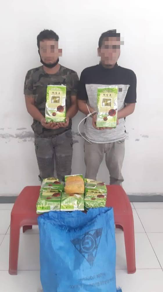 Polda Sumut Ringkus 2 Orang Pria Pemikul Sabu 9Kg di Jalinsum Limapuluh Batu Bara