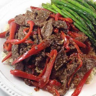 Sesame Beef and Red Peppers
