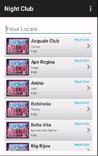 Night Club Italia e Svizzera