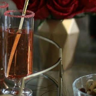 Pomegranate Sparkle Cocktail.