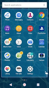 XPERIA™ Florida Theme Screenshot
