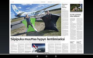 Screenshot of Hämeen Sanomat