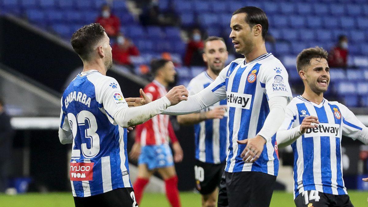 Adrián Embarba, Raúl de Tomas y Melendo. RCD Espanyol Fuente: AS