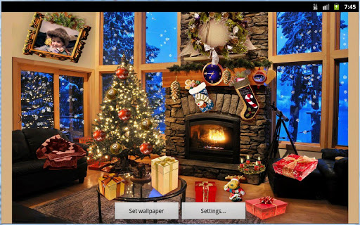Christmas Fireplace LWP Full screenshot 20
