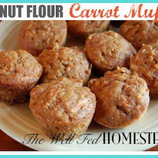 Coconut Flour Carrot Muffins.