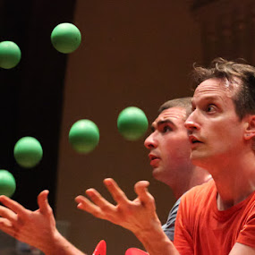 Green Balls by Bud Branch - People Musicians & Entertainers ( juggling, shoebox )
