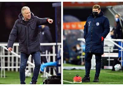 """Coaches reageren na late gelijkmaker: """"Gek dat wij tevreden zijn na puntje tegen STVV"""" vs """"Tegengoal is mijn fout, heb verkeerd gewisseld"""""""