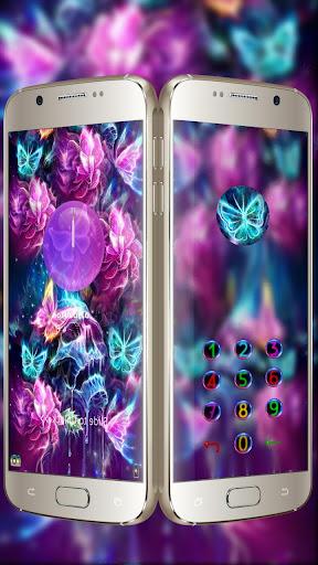 neon skull butterfly theme  screenshots 1