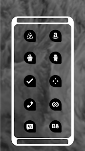 Teardrop Pixel Dark Black AMOLED UI - Icon Pack Screenshot